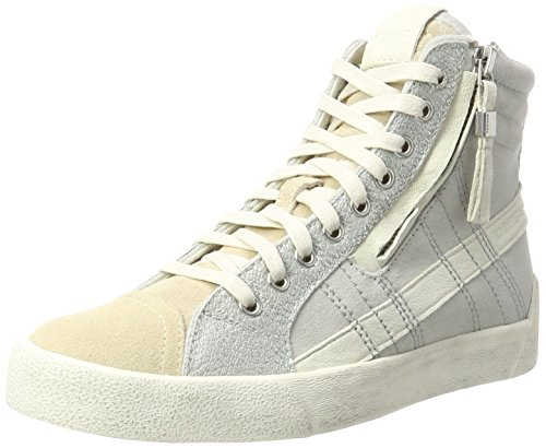 Diesel Damen D-Velows D-String Plus W-Y01286 Hohe Sneaker, Mehrfarbig (Dark Shadow/Dove), 40 EU