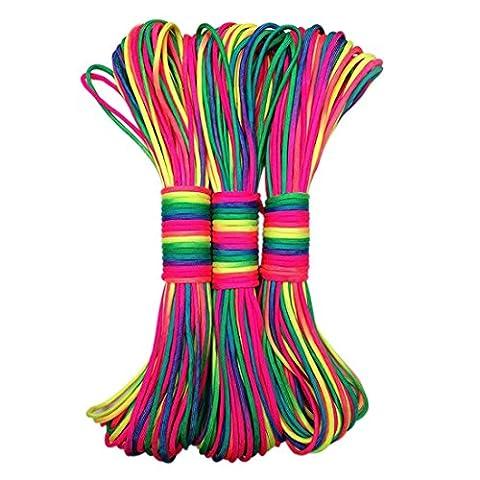 Beautylife66 Corde Multicolore Multifonction Parachute Durable Sport Extérieur(2 liasses)