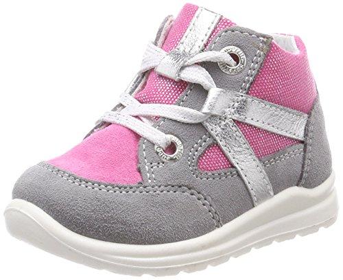 Superfit Baby Mädchen Mel Sneaker, Grau (Smoke Kombi), 26 EU