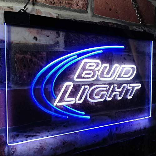 Ice Bar Novelty LED Neon Sign White + Blue W40cm x H 30cm ()
