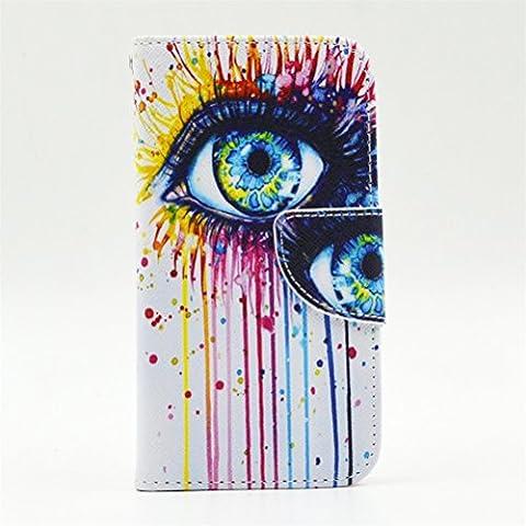 Coque Protection Nokia Lumia 635/630,KATUMO Pochette Lumia 635 Flip Case Cover Etui en Cuir Portefeuille Housse Lumia 635 Nokia Coques-#2Oeil