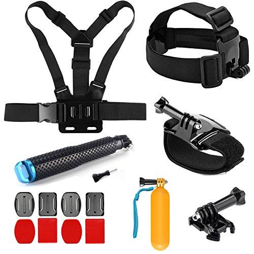 SHOOT Deportivo 8 en 1 Kit Accesorios para GoPro Hero 6/5/4/3+/3/2 SJCAM SJ4000 SJ5000 SJ6000 Xiaomi Yi Cámara de Acción