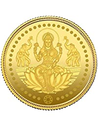 Muthoot Precious Metals Corporation 24k (999) Yellow Gold Goddess Lakshmi Idol Coin - 4 gm