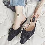 GAOLIM Flache Unterseite Hausschuhe Mädchen Herzen Schuh Feen Schuhe Student Mädchen Bow Tie Tipp Ziehen Sie Das Schneidwerk