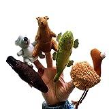 Happy Cherry - Marionetas de Dedos Juguetes de 5 Representativos Animales de Australia para Niños Bebes niñas - Canguro/Koala/cocodrilo/ornitorrinco/Avestruz