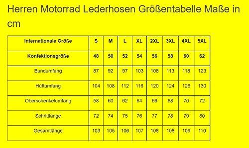 German Wear GW350T - Pantalones de Moto, Negro, 60 EU/4XL: Tamaño de la cintura - 116 cm