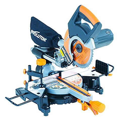 Evolution RAGE3-S+ Multi-Purpose Sliding Mitre Saw with Accessory Pack, 210 mm (230V)