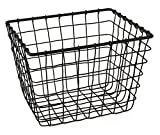 Gelco Design Fab Cesta de almacenaje con Cable, Metal, Negro, 18x 22x...
