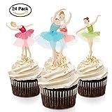 fishmm 24pcs mit Ballett M�dchen Party Fun Cup Cake Deko Dekoration Cupcake-Dekoration f�r Party