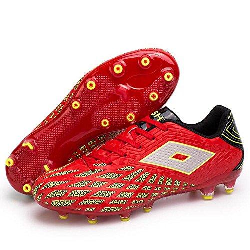 Mr. LQ - Adulti combattimento scarpe e formazione scarpe calcio giovanile Red