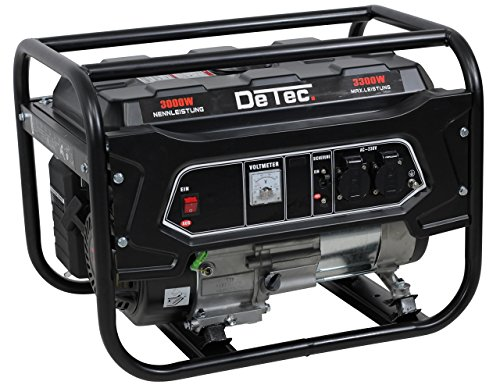 DeTec. Benzin Generator - Stromerzeuger - 3,3KW/3300W 230V Notstrom Aggregat