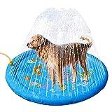 """Sprinkler Pad voor hond en kinderen 37 """"Water Splash Splash Splash Spelmat Watersproeier Opblaasbaar Verdikt Plansch Becken fontein voor zomer Buiten Tuin Jongens Meisjes Baby"""