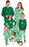 PajamaGram Let it Snow, Mann. Passende Familie Pyjama, Set, grün - grün - Frau Medium (8-10)