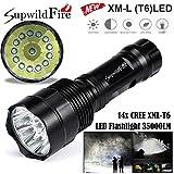 WYXlink Super Bright 35000Lm 14x XM-L T6 LED 5-Mode 18650 Taschenlampe Fackel Leuchte