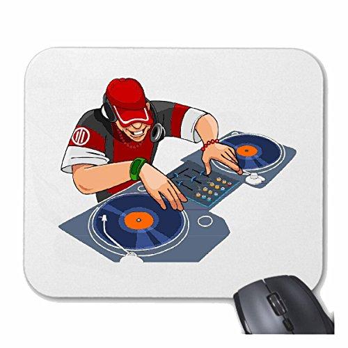 Reifen-Markt Mousepad (Mauspad) DJ MISCHPULT Plattenspieler Disco Techno Jazz Funky Soul Trance Festival House Hiphop HIP HOP DJ für ihren Laptop, Notebook oder Internet PC (mit Windows Linux usw.) i -