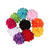 #4: Rrimin 10pcs Flower Hairband Toddler Baby Girl Infant Headband Hair Bow Band Accessories