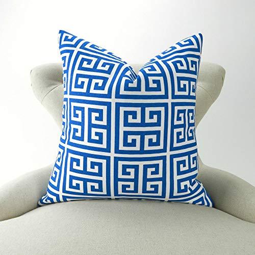 Griechische Muster (Ethelt5IV Kissenbezug, griechisches Muster, Kobalt, für Strand, Kostüm, Dekoration, Euro Sham Apollo Pemier Drucke)