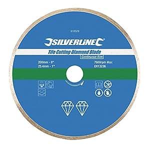 Silverline disco diamantato da taglio per piastrelle 200 - Disco taglio piastrelle ...