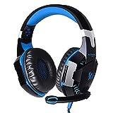 Andoer EACH G2000 Über-Ohr-Spiel-Spiel-Kopfhörer-Kopfhörer-Stirnband mit Mic Stereo Bass LED-Licht für