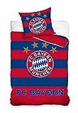 Fc Bayern München Bettwäsche Bettbezug Set Fußball 160x200 Blau - Rot 02