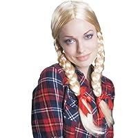 Dress Up America 258 - Parrucca con Trecce Bionde, Taglia Unica Adatta Quasi a Tutti, Multicolore
