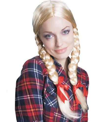 Dress Up America 258 - Perücke mit blonden Zöpfen, Einheitsgröße