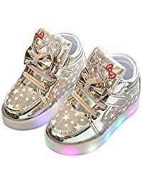 Zarupeng Niños LED Luz Fashion Sneakers Star Luminous Child Casual Zapatillas Unisex Niño ...