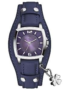 s.Oliver - SO-2513-LQ - Montre Fille - Quartz Analogique - Bracelet Cuir Bleu