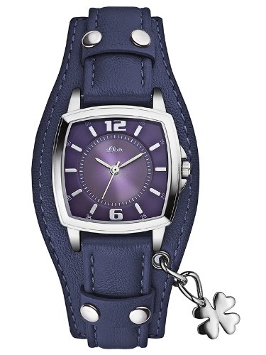 S.Oliver Damenuhr Analog Quarz mit Lederarmband - SO-2513-LQ