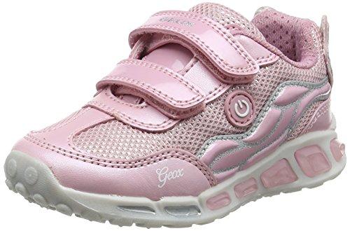 Geox J Shuttle C, Zapatillas para Niñas, Rosa (Pink/Silver), 29 EU