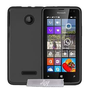 Coque Gel transparent Noir Microsoft Lumia 435 \ 532 + Stylet + 3 Films OFFERTS