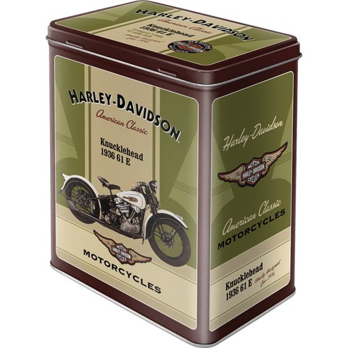 Nostalgic-Art 30120 Harley-Davidson Knucklehead, Vorratsdose L