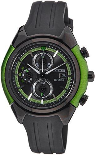 Citizen CA0289-00E - Reloj cronógrafo de cuarzo para hombre, correa de resina color negro