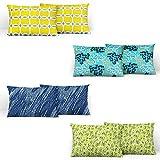 Divine Casa 100% Cotton Printed Design Assorted Pillow Covers Set of 4 (Total 8 Pcs) (Muliticolor, Standard Size)