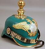 Deutsche Pickelhaube Helm Preußische Imperial Officer 's Garde Leder GR02