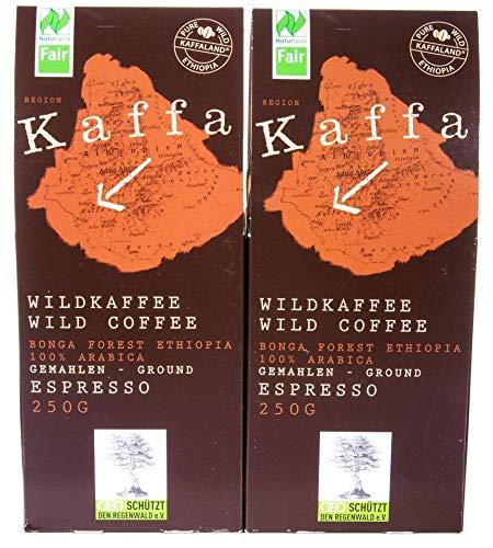 Original Food Kaffa Wildkaffee Espresso gemahlen 2er-Pack (2x 250g) bio - 2
