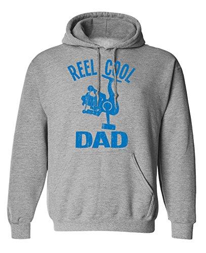Reel Cool DAD Fishing Uomo Hoodie or Sweater (Hoodie) Grey