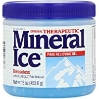 Mineral Ice Therapeutic Pain Relieving Gel, 16-Ounce Jars (Pack of