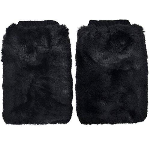 Simplicity Damen Soft Furry Stiefel Manschette (Erwachsene Weiße Superhelden Stiefel)