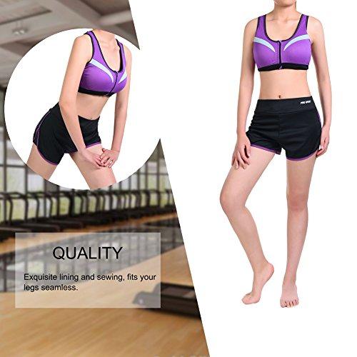 VBIGER Soutien-Gorge de Sport Pantalon de Yoga Gym Tenues Respirants pour Femmes Violet