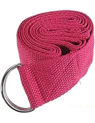 mark8shop 6ft Yoga Stretch Correa D-Ring Cinturón Correa De Entrenamiento De Fitness