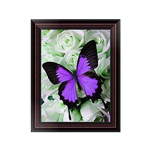 Dairyshop DIY Papillon 5D Peinture De Diamant Point De Croix Broderie Diamant Rond Painting Kits Salon Chambre Décoration