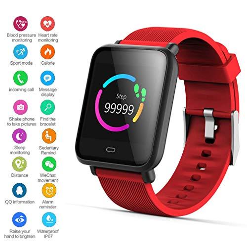 EJOLG IP67 Wasserdichte Smartwatch Unisex,mit Fitness trackers Pulsmesser Kalorienzähler schrittzähler usw.Unterstützt Mehrere Sprache,Damen und Herren Fitness Armband Uhr,B