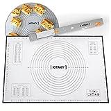 kitaky Extra große Silikon Backmatte mit Messungen