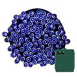 Yasolote, Batteriebetrieben Lichterkette Außen, Wasserdicht LED Weihnachtsdeko, 11,6m 100 LED 8 Modi, Weihnachtsbeleuchtung für Haus, Innen, Weihnachtsbaum, Garten, Terrasse, Hochzeit Fest Deko (Blau)