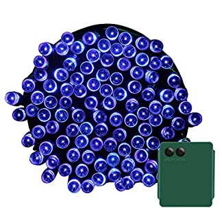 Yasolote 10M Guirnalda de Luces de Pilas 8 Modos 100 LED Cadena de Luces Exterior e Interior Impermeables para Decorar Patio, Jardín, Terraza, Boda, Fiesta, Navidad (Colores)
