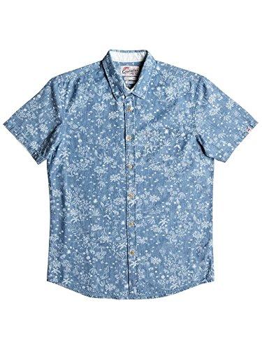 Herren Hemd kurz Quiksilver Bloom Field Diver Hemd indigo pyramid