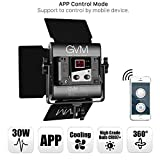 GVM LED Video Lights Panel with APP Control Function Photography Lighting CRI97+2300K-6800K + Bi-Color for Studio YouTube Interview Outdoor Metal Housing Unique Cooling System Digital Display…