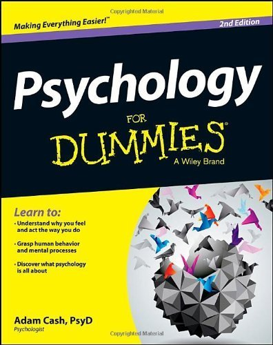 Psychology For Dummies by Cash, Adam (2013) Paperback