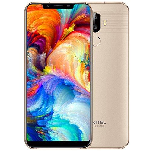 OUKITEL U18 4G Phablet Smartphone Face ID 5.85 pollici Android 7.0 MTK6750T Octa Core 1,5 GHz 4 GB RAM 64 GB ROM 4000 mAh Batteria Doppio telecamere posteriori Riconoscimento delle impronte digitali(d'oro)
